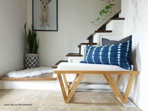 стильная скамейка для дома