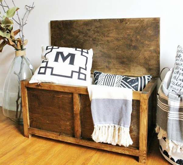 деревянный ящик скамейка