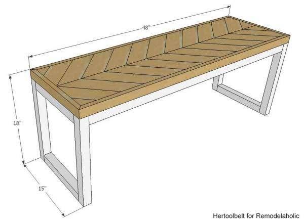 домашняя скамейка