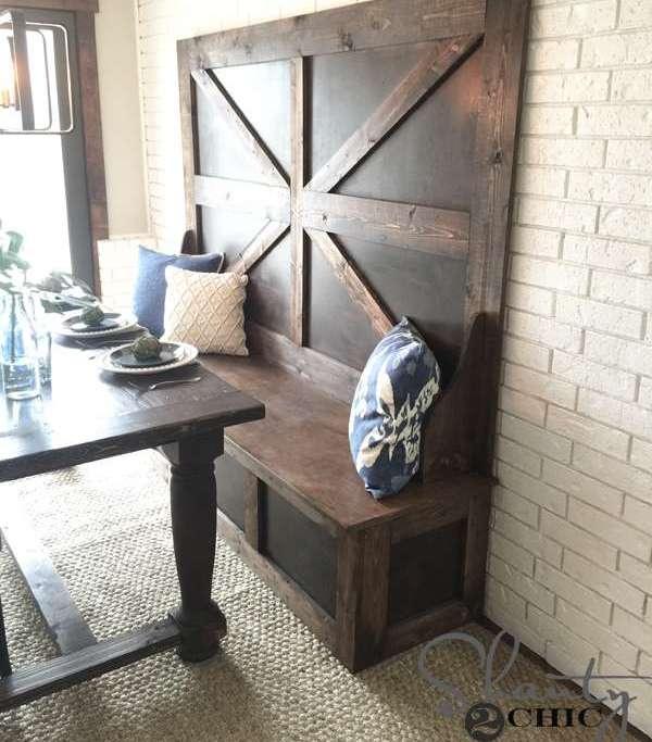 скамейка на кухню со спинкой