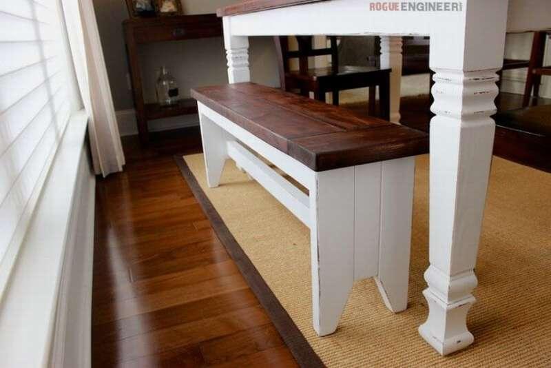 деревянная лавка для кухни