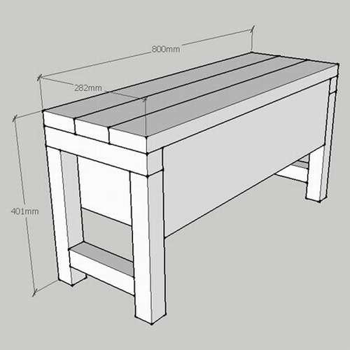 скамейка для ванной комнаты