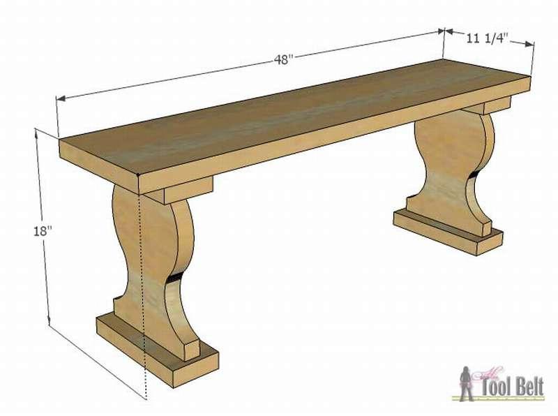садовая скамейка своими руками чертеж