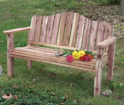 скамейка садовая со спинкой своими руками чертеж