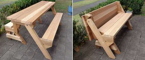 стол скамейка своими руками чертежи
