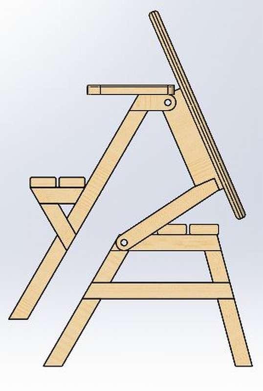 скамейка стол трансформер своими руками
