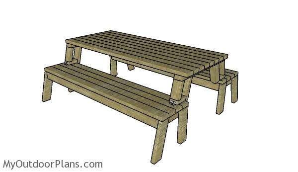 стол скамейка трансформер своими руками чертежи