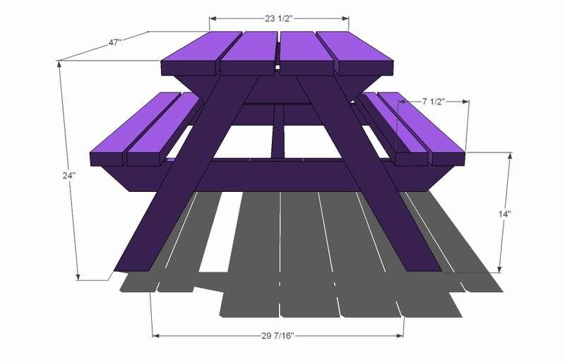 стол со скамейками для пикника