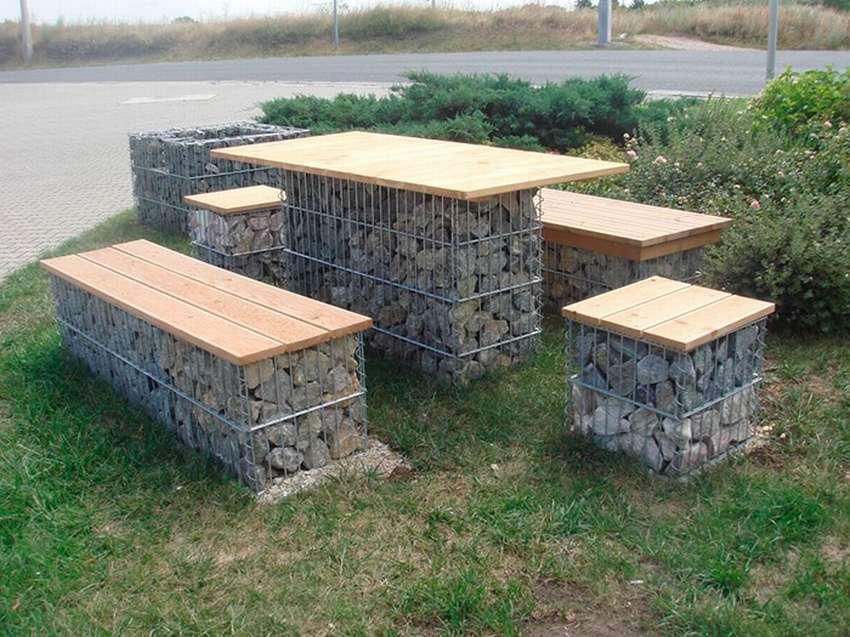 столы из габионов фото про процедуры