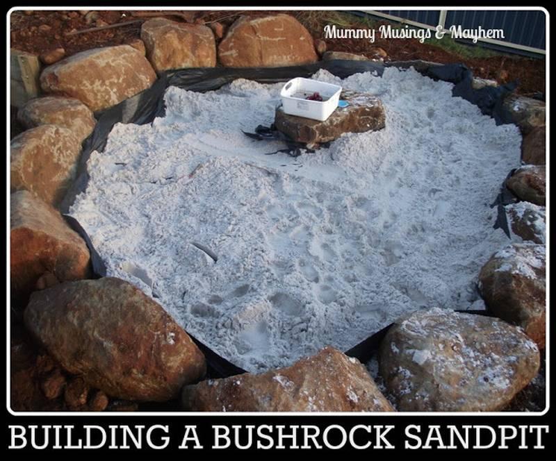 песочница из камней