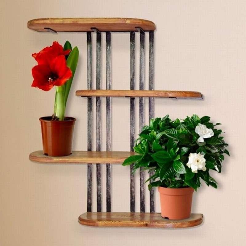 полки под цветы фото на стену современных интерьерах квартир