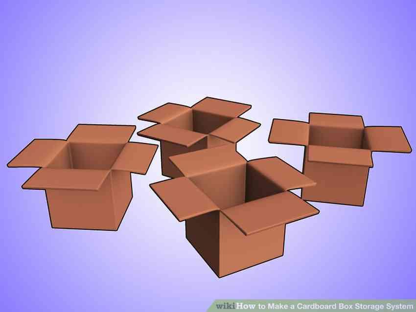 Полки из коробок своими руками