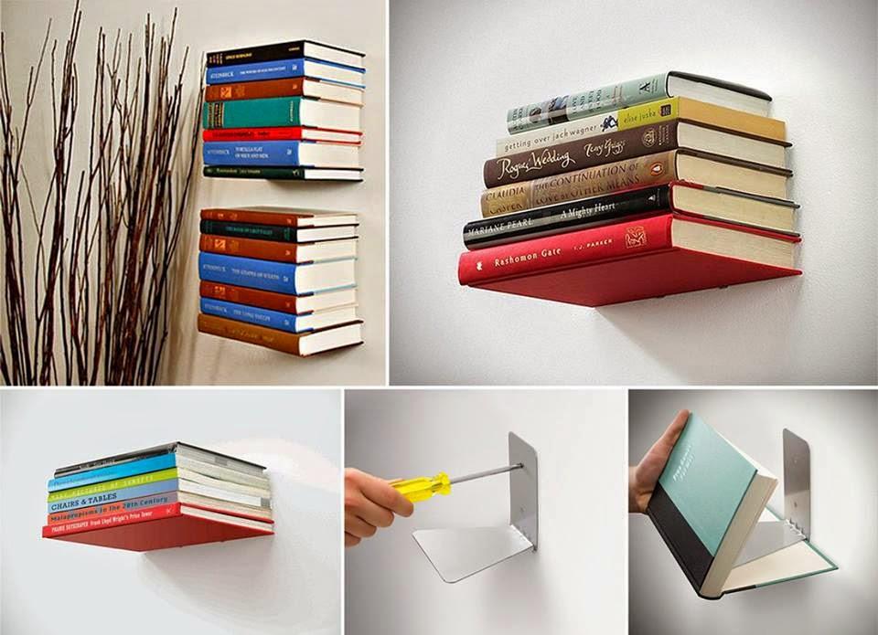 Полка невидимка из книг