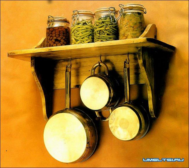 Маленькая деревянная полочка на кухню чертеж схема