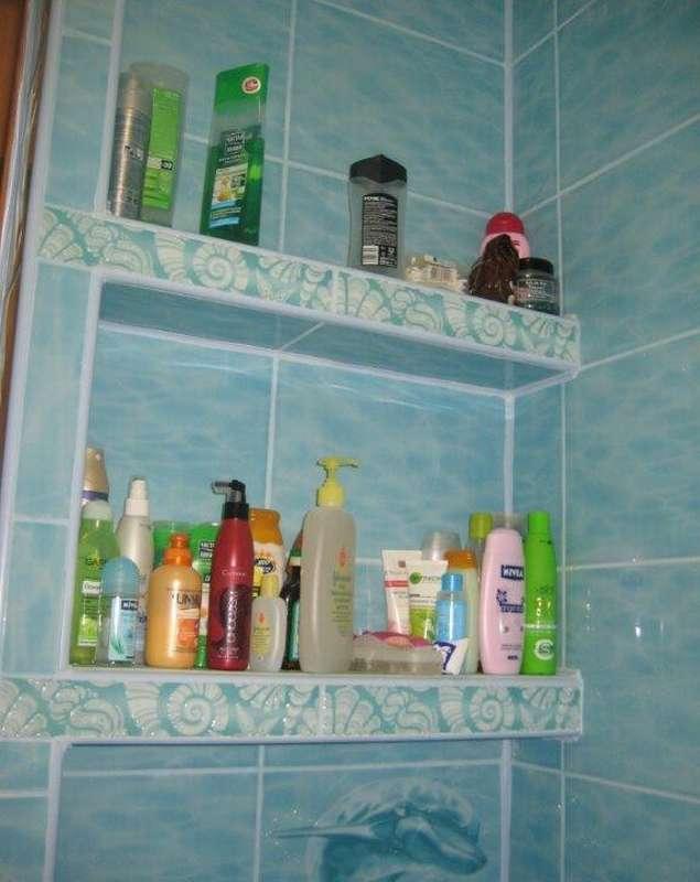 как сделать полочку в ванной своими руками