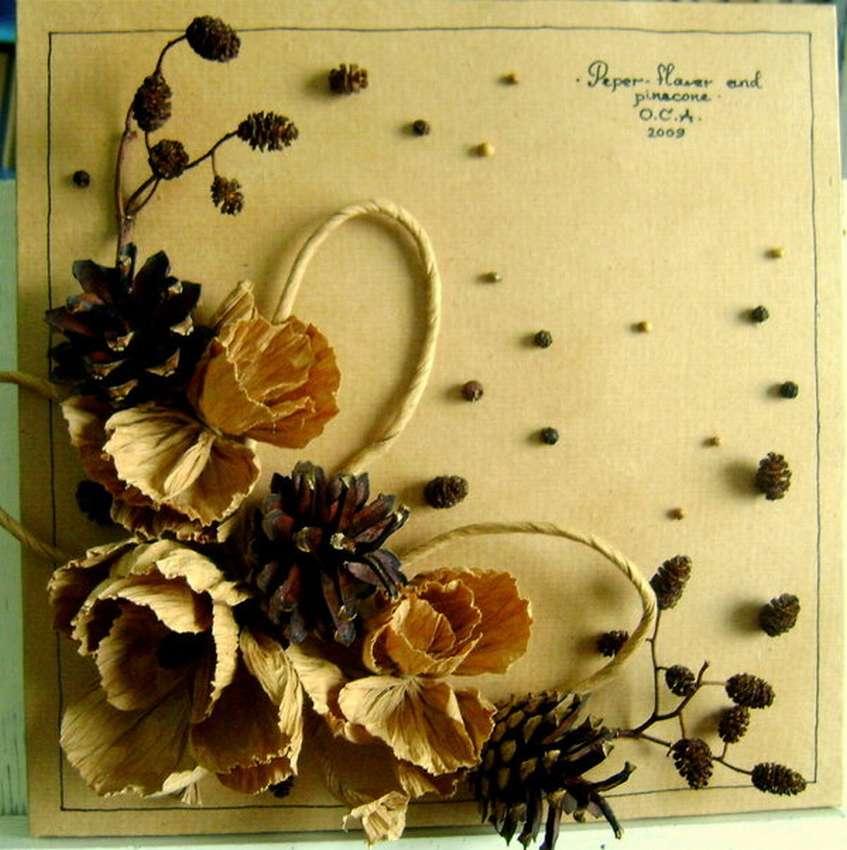 Мастер класс открытки из природного материала, открытки запорожье