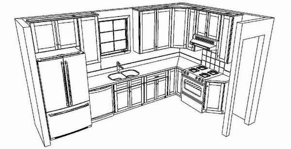 как собрать кухню по модулям