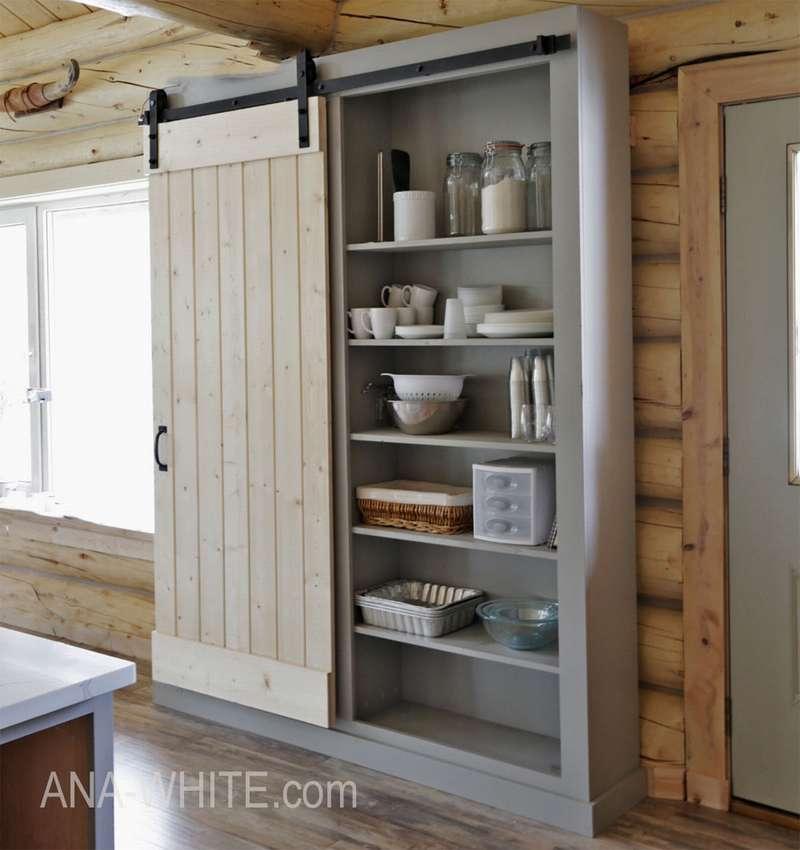 кухонный шкаф с раздвижной дверью