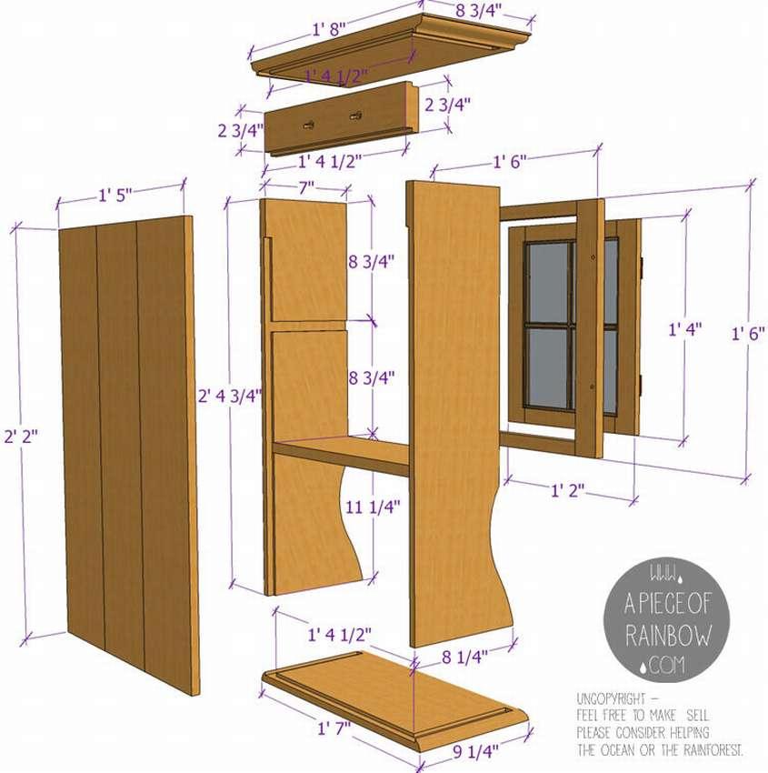 кухонный шкафчик на стену