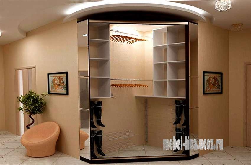 Угловой шкаф из гипсокартона фото
