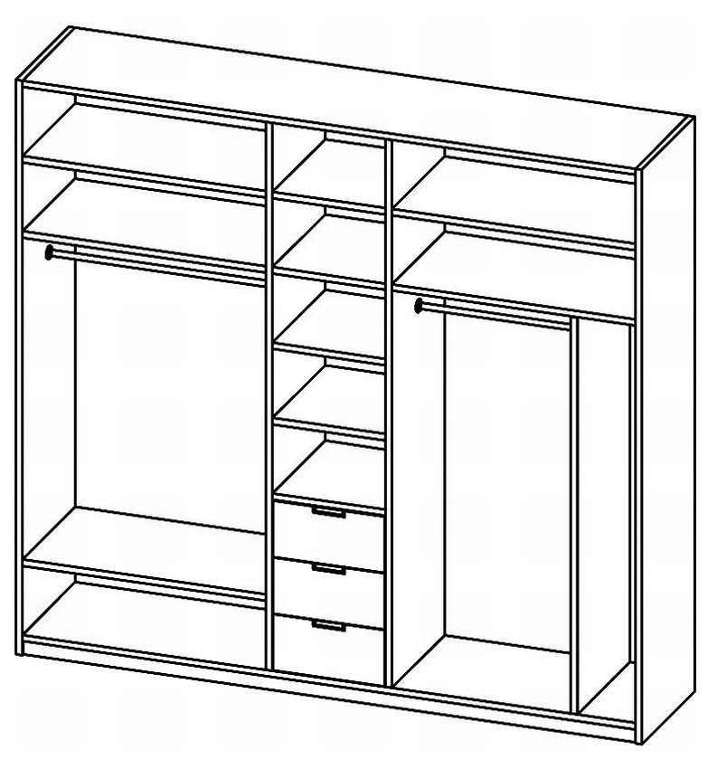 Шкаф купе чертеж картинка