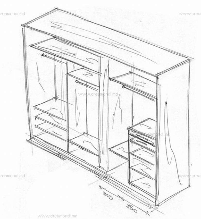 картинки эскиз шкафа летучая мечтах