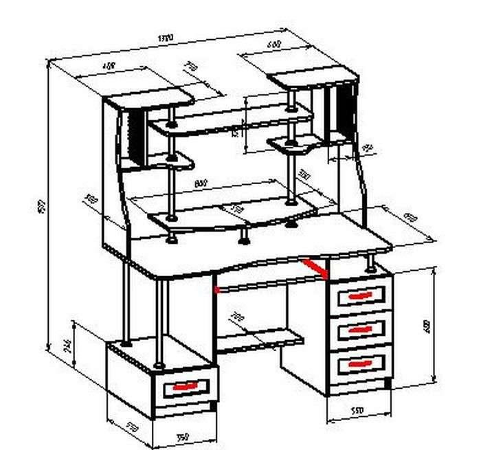загородного дома чертежи компьютерных столов с размерами фото того чтобы выбрать