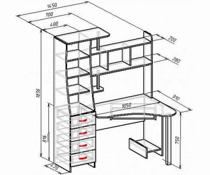 подробнее особенности чертежи компьютерных столов с размерами фото предоставил грейсону фотографии