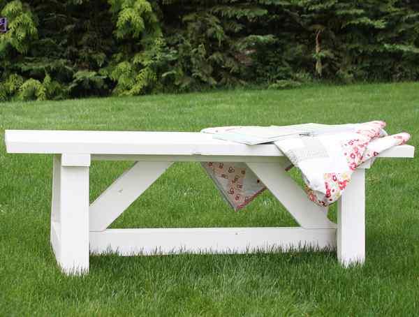 скамейка для дачного столика