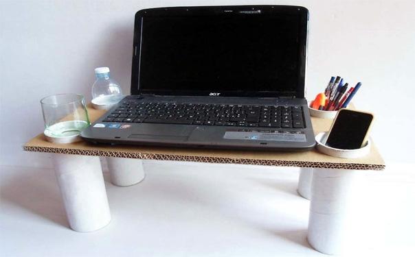 подставка для ноутбука из картона своими руками