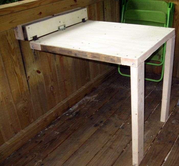 простой откидной столик