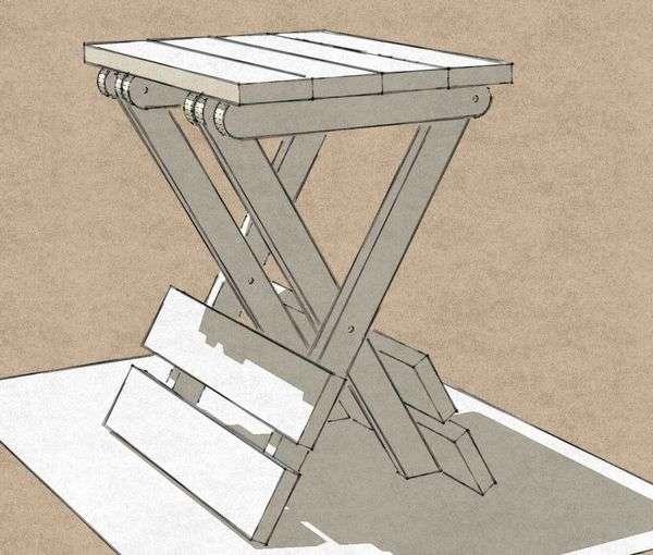 маленький складной столик для пикника своими руками