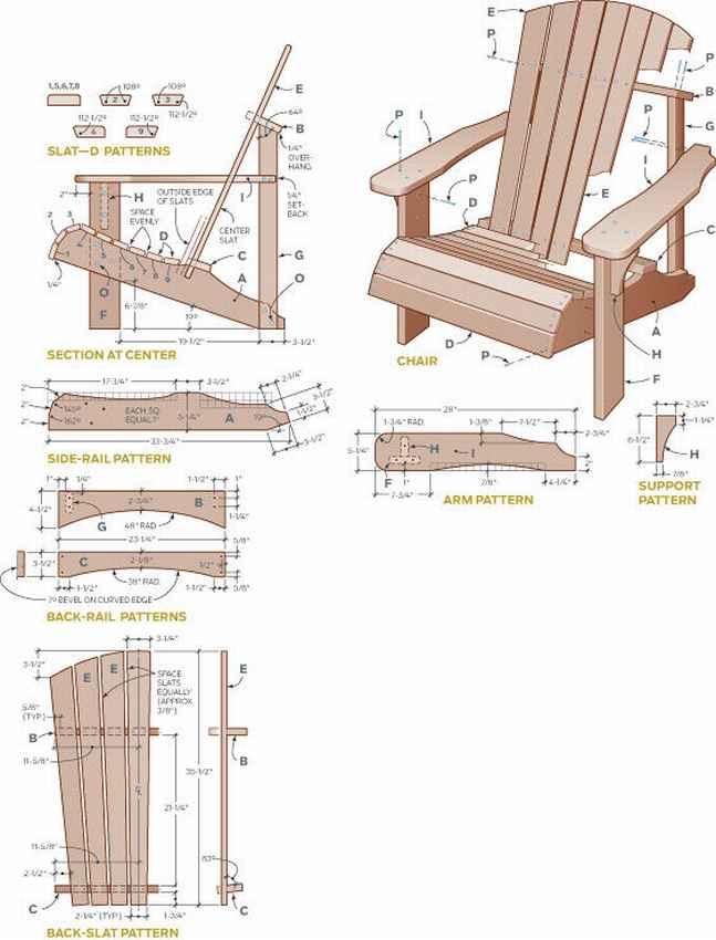 Мебель своими руками из дерева фото чертежи