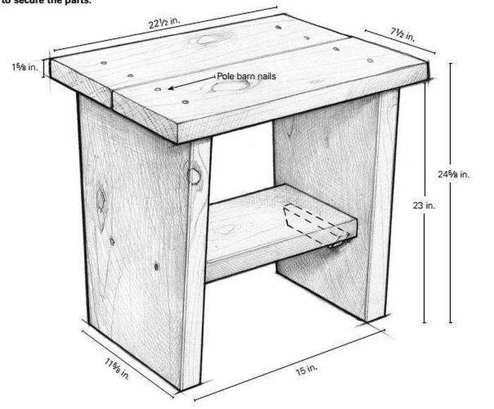 чертеж табуретки на кухню из дсп фото площадке сериала