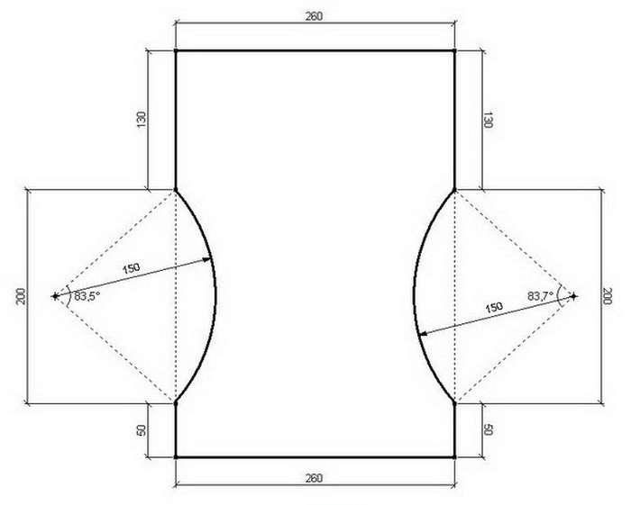 чертеж табуретки на кухню из дсп фото для