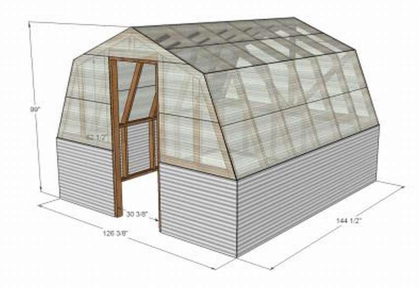 как построить теплицу из поликарбоната