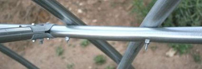 теплица из металлических труб