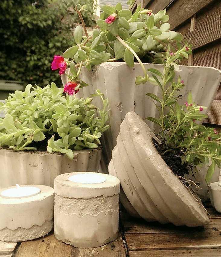 садовые вазоны своими руками фото украшение ирина