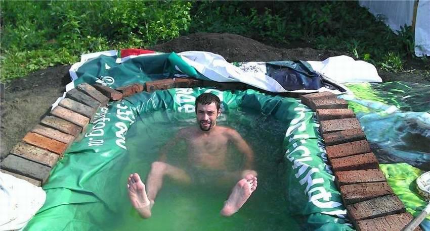 Очень простой бассейн своими руками