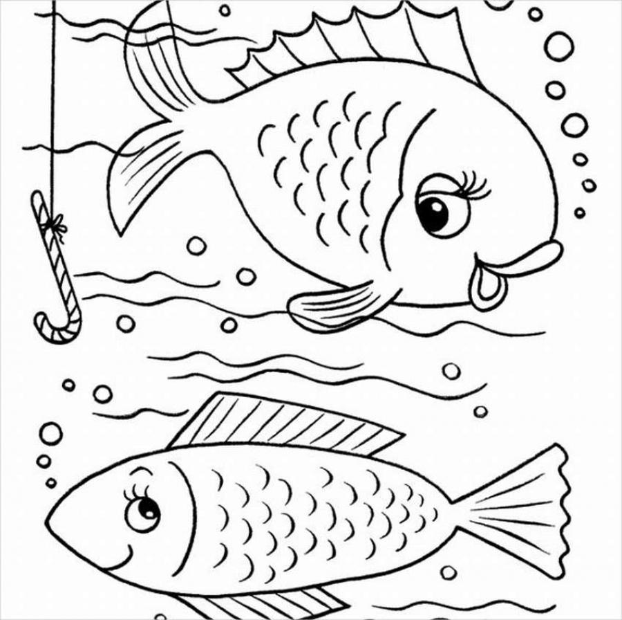 Шаблоны и трафарет рыбки для вырезания из бумаги