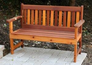 как сделать скамейку со спинкой из дерева