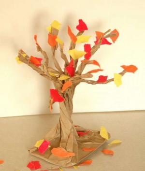 Дерево из бумаги своими руками. Пошаговые инструкции   300 фото