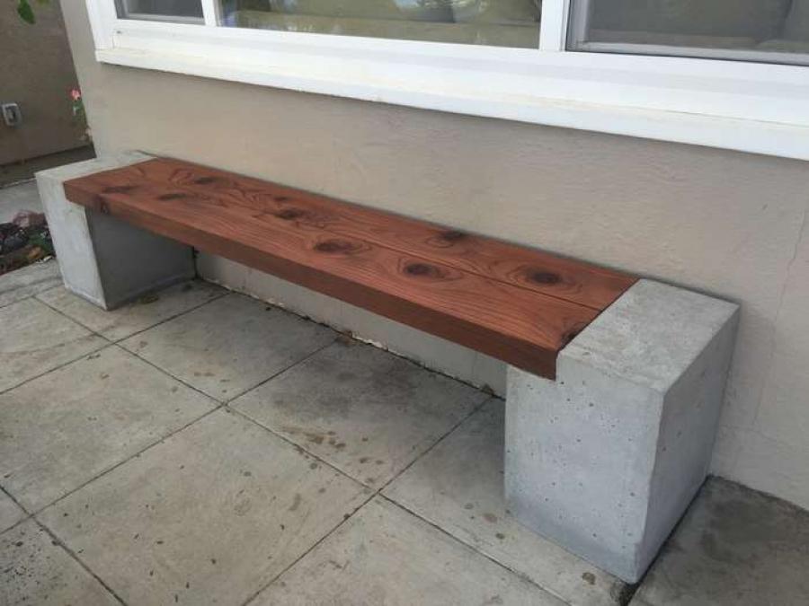 Скамейка из бетона и дерева купить купить грунтовку по бетону для покраски