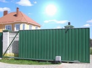 Своими руками простые откатные ворота на даче