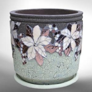 Комнатный вазон в мозаичном стиле