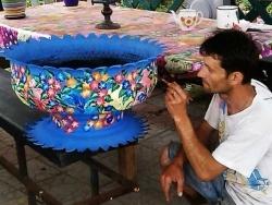 Как вырезать цветы из покрышек