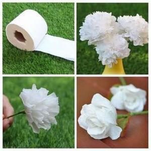 сделать цветок из туалетной бумаги