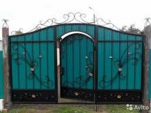 Ворота из профнастила – как сделать своими руками красивые ворота (95 фото)
