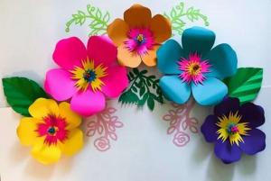 как сделать цветы из цветной бумаги