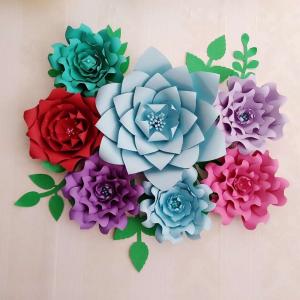 как сделать объемные цветы из бумаги